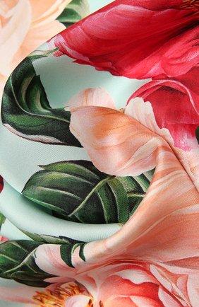 Женский шелковый платок DOLCE & GABBANA розового цвета, арт. FN092R/GDV60   Фото 2
