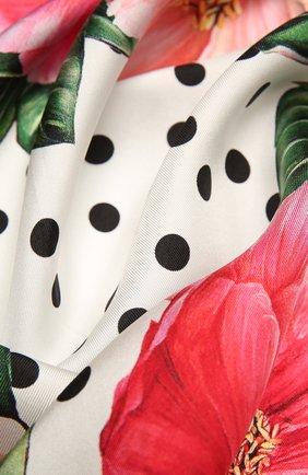 Женский шелковый платок DOLCE & GABBANA желтого цвета, арт. FN092R/GDV60   Фото 2