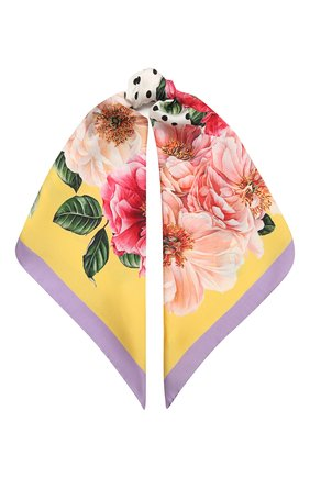 Женский шелковый платок DOLCE & GABBANA желтого цвета, арт. FN090R/GDV60   Фото 1
