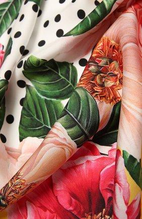 Женский шелковый платок DOLCE & GABBANA желтого цвета, арт. FN090R/GDV60   Фото 2