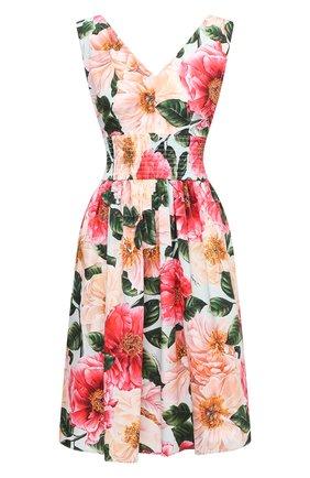 Женское хлопковое платье DOLCE & GABBANA розового цвета, арт. F6J7HT/HS5H9 | Фото 1