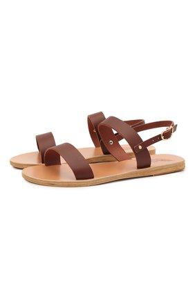 Женские кожаные сандалии clio ANCIENT GREEK SANDALS темно-коричневого цвета, арт. CLI0/CHESTNUT | Фото 1