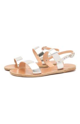 Женские кожаные сандалии clio ANCIENT GREEK SANDALS серебряного цвета, арт. CLI0/SILVER | Фото 1