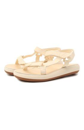 Женские кожаные сандалии poria ANCIENT GREEK SANDALS бежевого цвета, арт. P0RIA C0MF0RT/0FF WHITE | Фото 1