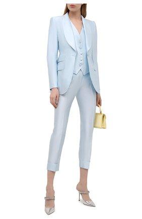 Женские кожаные мюли bing 100 JIMMY CHOO серебряного цвета, арт. BING 100/QUI   Фото 2