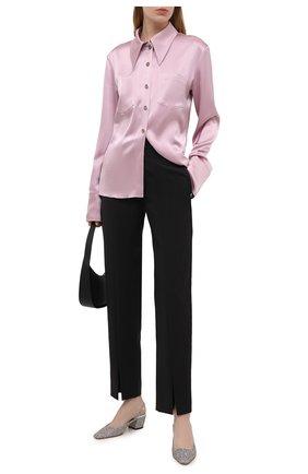 Женские текстильные туфли gini 45 JIMMY CHOO серебряного цвета, арт. GINI 45/J0Y | Фото 2