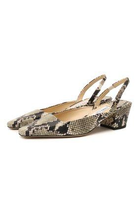 Женские кожаные туфли gini 46 JIMMY CHOO серого цвета, арт. GINI 45/NKE | Фото 1