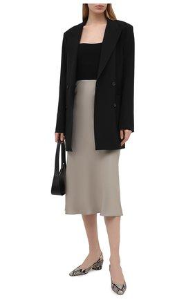 Женские кожаные туфли gini 46 JIMMY CHOO серого цвета, арт. GINI 45/NKE | Фото 2