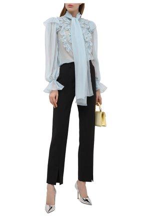 Женские кожаные туфли love 100 JIMMY CHOO серебряного цвета, арт. L0VE 100/QUI   Фото 2