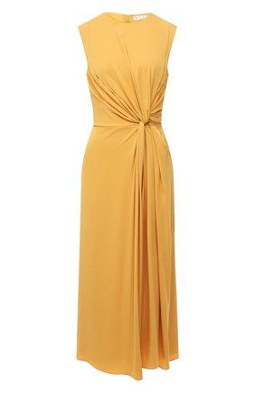 Женское шелковое платье LORO PIANA желтого цвета, арт. FAL5382 | Фото 1