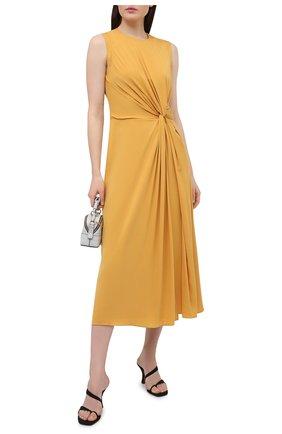 Женское шелковое платье LORO PIANA желтого цвета, арт. FAL5382 | Фото 2