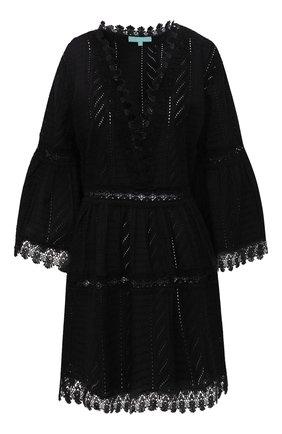 Женская хлопковая туника MELISSA ODABASH черного цвета, арт. VICT0RIA | Фото 1