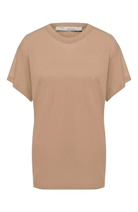 Женская льняная футболка IRO бежевого цвета, арт. WP19HINT0N | Фото 1