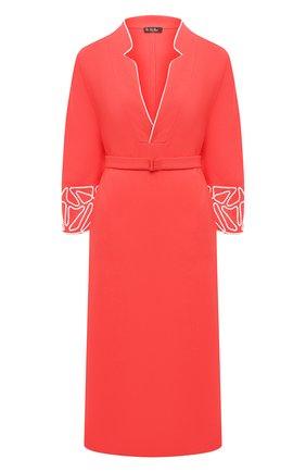 Женское льняное платье LORO PIANA красного цвета, арт. FAL6299 | Фото 1