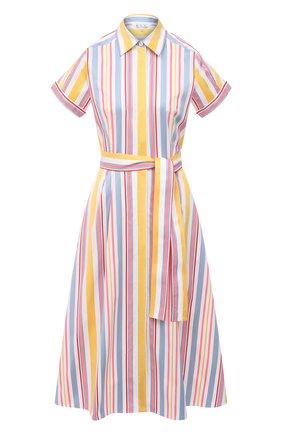 Женское хлопковое платье LORO PIANA разноцветного цвета, арт. FAL7088 | Фото 1