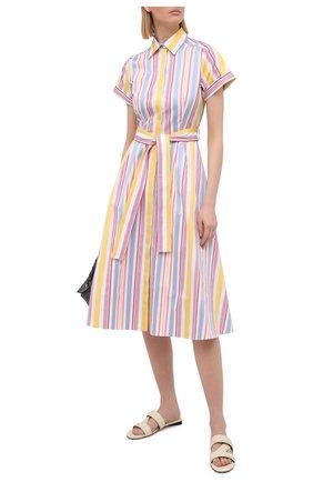 Женское хлопковое платье LORO PIANA разноцветного цвета, арт. FAL7088 | Фото 2