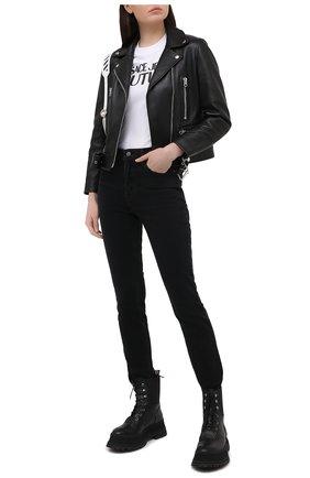 Женские джинсы GRLFRND черного цвета, арт. GF41689461489 | Фото 2