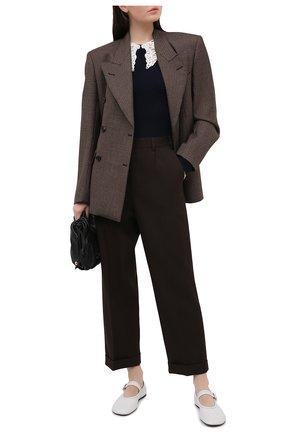 Женский хлопковый пуловер CHLOÉ темно-синего цвета, арт. CHC21SMP01590 | Фото 2