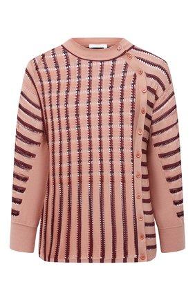 Женский пуловер из шерсти и вискозы CHLOÉ розового цвета, арт. CHC21SMP03600 | Фото 1