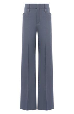 Женские шерстяные брюки CHLOÉ голубого цвета, арт. CHC21SPA06066 | Фото 1