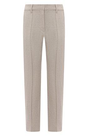 Женские льняные брюки EMPORIO ARMANI бежевого цвета, арт. ANP44T/A2026 | Фото 1