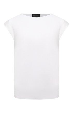 Женская футболка из вискозы EMPORIO ARMANI белого цвета, арт. 3K2M8H/2J85Z | Фото 1