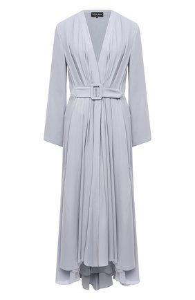 Женское шелковое платье GIORGIO ARMANI светло-голубого цвета, арт. 1SHVA07S/T02MG | Фото 1