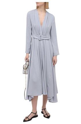 Женское шелковое платье GIORGIO ARMANI светло-голубого цвета, арт. 1SHVA07S/T02MG | Фото 2