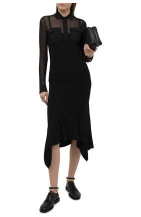 Женская юбка из кашемира и шелка TOM FORD черного цвета, арт. GCK085-YAX087   Фото 2