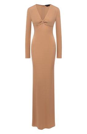 Женское платье из вискозы TOM FORD бежевого цвета, арт. ABJ543-FAX162   Фото 1