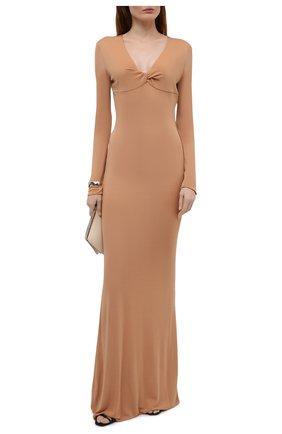 Женское платье из вискозы TOM FORD бежевого цвета, арт. ABJ543-FAX162   Фото 2