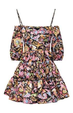 Женское платье VERSACE JEANS COUTURE черного цвета, арт. D2HWA413-WDP904/S0098 | Фото 1