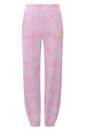 Женские хлопковые джоггеры VERSACE JEANS COUTURE розового цвета, арт. A1HWA1VA-WDP320 L0G0 D/30443 | Фото 1