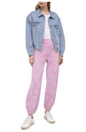 Женские хлопковые джоггеры VERSACE JEANS COUTURE розового цвета, арт. A1HWA1VA-WDP320 L0G0 D/30443 | Фото 2