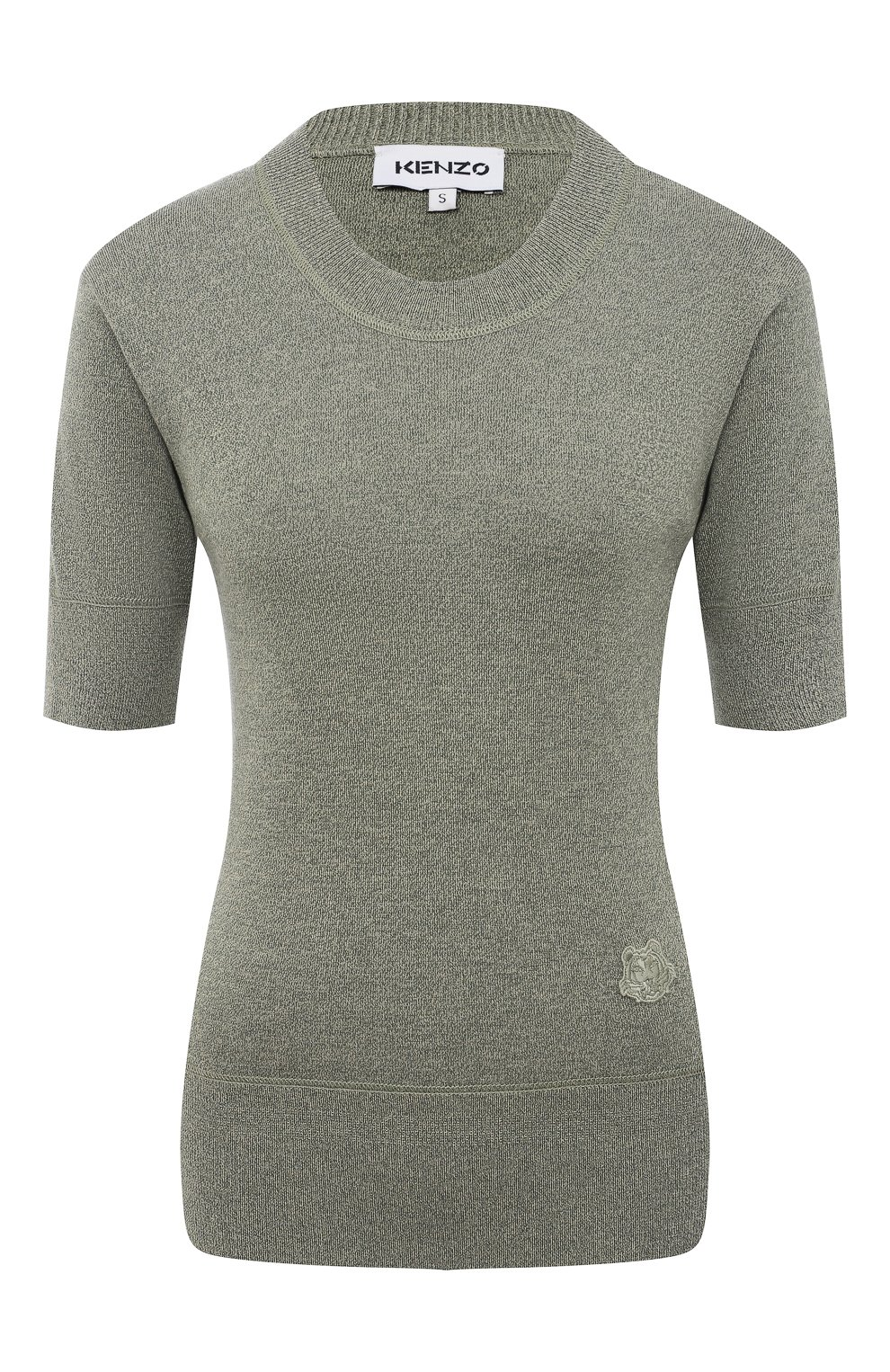 Женский пуловер из шерсти и хлопка KENZO хаки цвета, арт. FB52PU5553AB | Фото 1