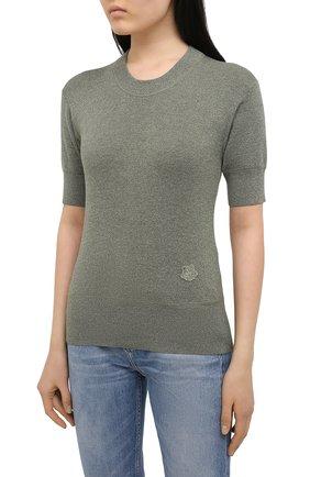 Женский пуловер из шерсти и хлопка KENZO хаки цвета, арт. FB52PU5553AB | Фото 3