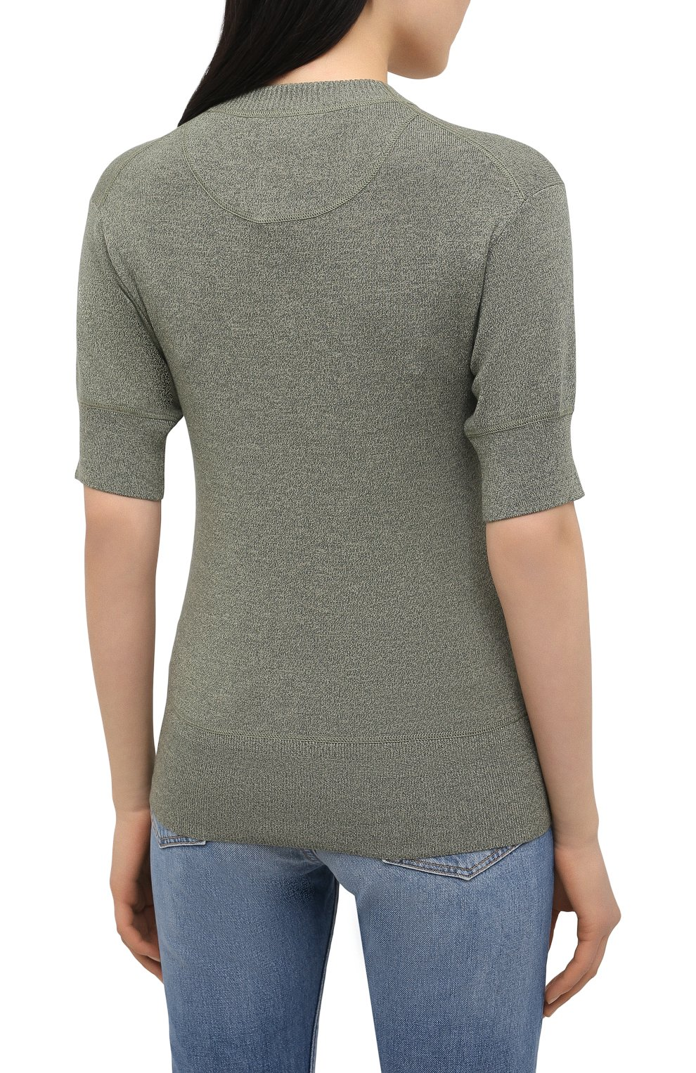 Женский пуловер из шерсти и хлопка KENZO хаки цвета, арт. FB52PU5553AB | Фото 4