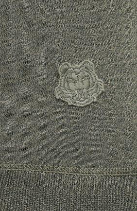 Женский пуловер из шерсти и хлопка KENZO хаки цвета, арт. FB52PU5553AB | Фото 5