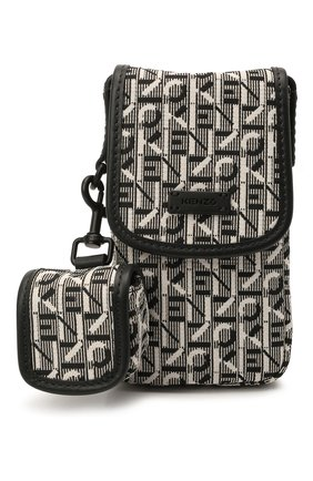 Комплект из чехла для iphone и чехла для airpods KENZO серого цвета, арт. FB52PM708B01 | Фото 1