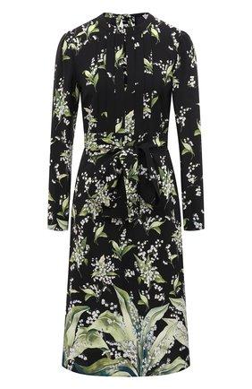Женское шелковое платье REDVALENTINO черного цвета, арт. VR3VAW05/5LW | Фото 1