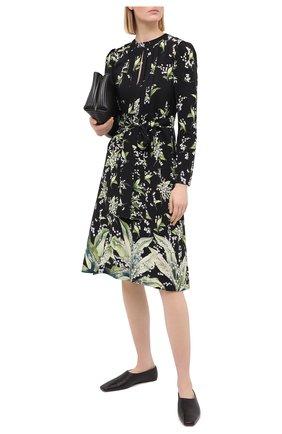 Женское шелковое платье REDVALENTINO черного цвета, арт. VR3VAW05/5LW | Фото 2