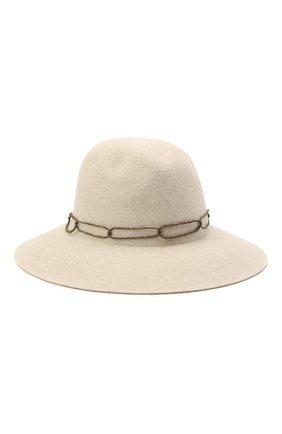 Женская фетровая шляпа с мехом кролика BRUNELLO CUCINELLI белого цвета, арт. MCAP90130 | Фото 1