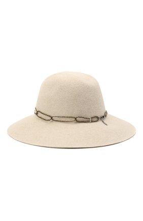 Женская фетровая шляпа с мехом кролика BRUNELLO CUCINELLI белого цвета, арт. MCAP90130 | Фото 2