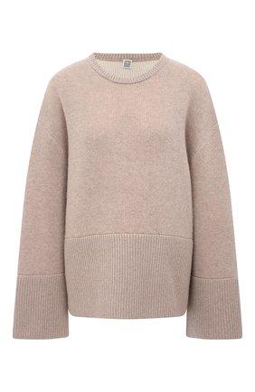 Женский кашемировый пуловер TOTÊME бежевого цвета, арт. 211-559-753 | Фото 1