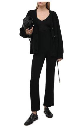 Женский шерстяной кардиган TOTÊME черного цвета, арт. 211-549-753 | Фото 2