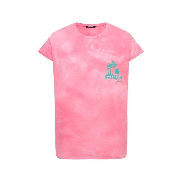 Хлопковая футболка Balmain