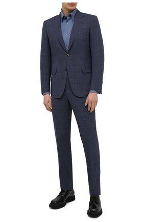 Мужской шерстяной костюм CANALI темно-синего цвета, арт. E11280/19/BX03259 | Фото 1