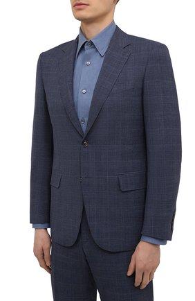 Мужской шерстяной костюм CANALI темно-синего цвета, арт. E11280/19/BX03259 | Фото 2