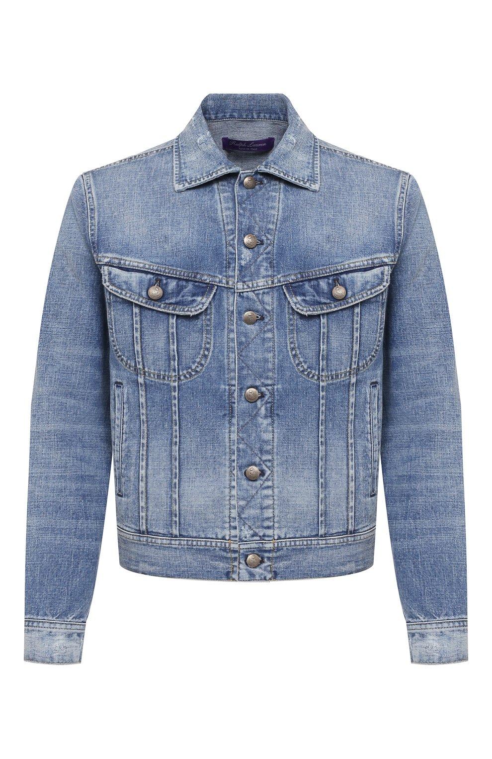 Мужская джинсовая куртка RALPH LAUREN синего цвета, арт. 790787189   Фото 1