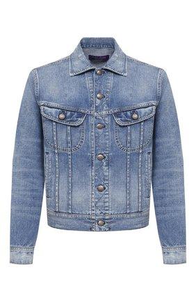 Мужская джинсовая куртка RALPH LAUREN синего цвета, арт. 790787189 | Фото 1